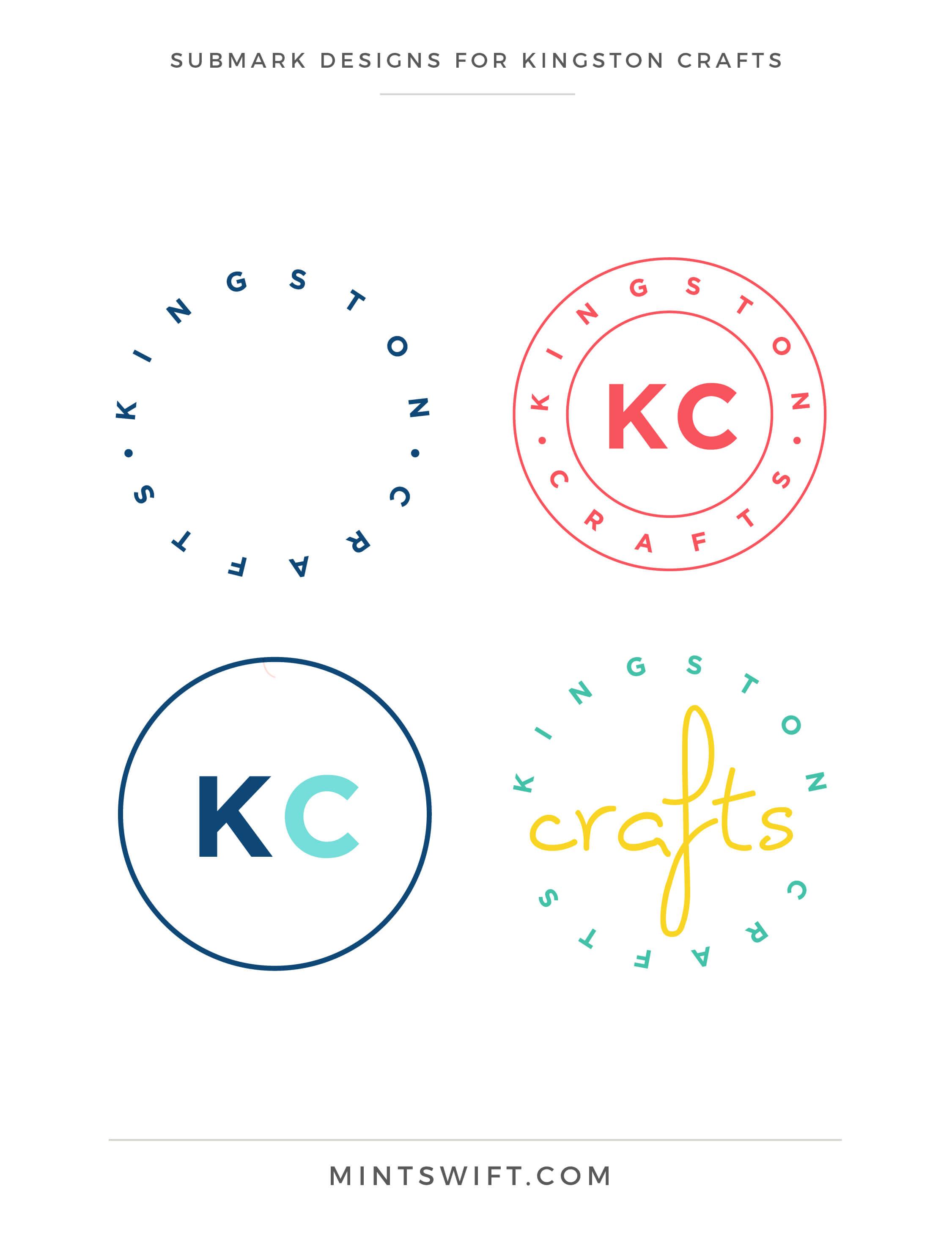 Kingston Crafts - Submark Designs - Brand Design Package - MintSwift