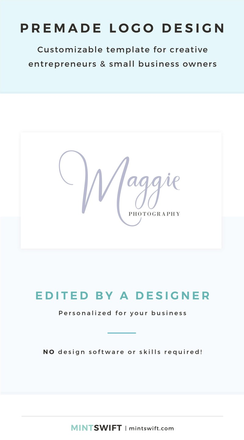 Maggie Premade Logo - Customizable template for creative entrepreneurs & small business owners – MintSwift Shop