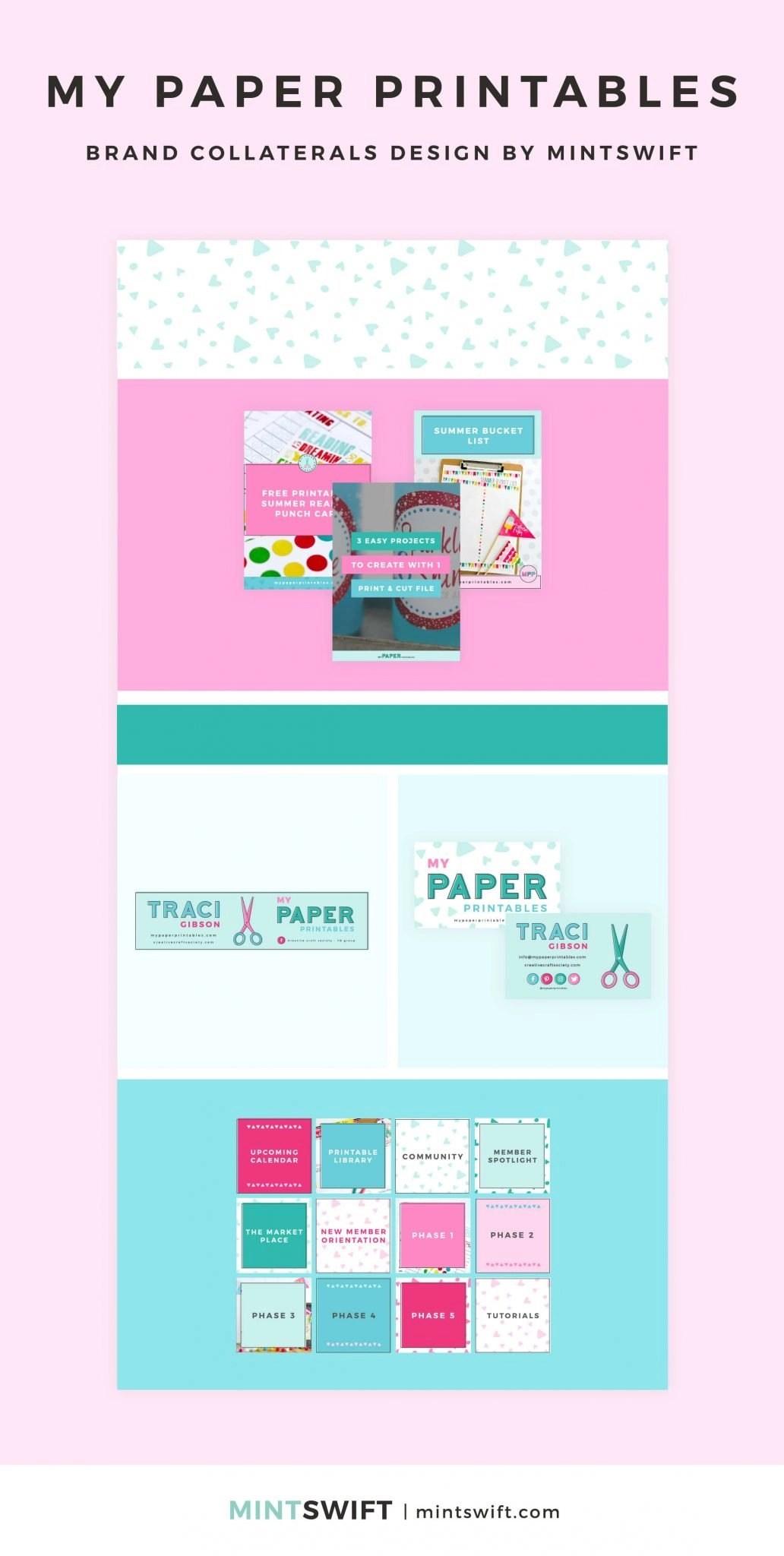 My Paper Printables - Brand Collaterals Design - MintSwift - Adrianna Leszczynska