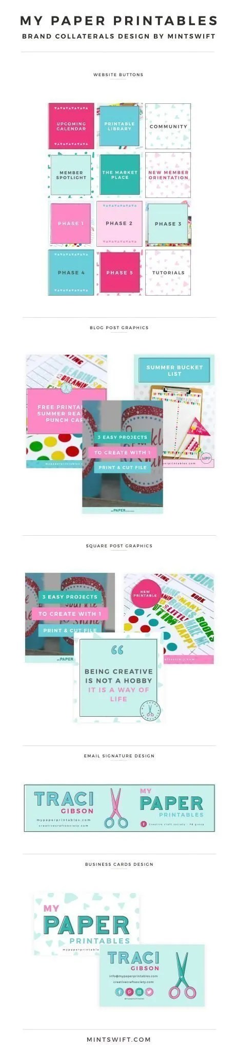 My Paper Printables - Brand Collaterals Design by MintSwift