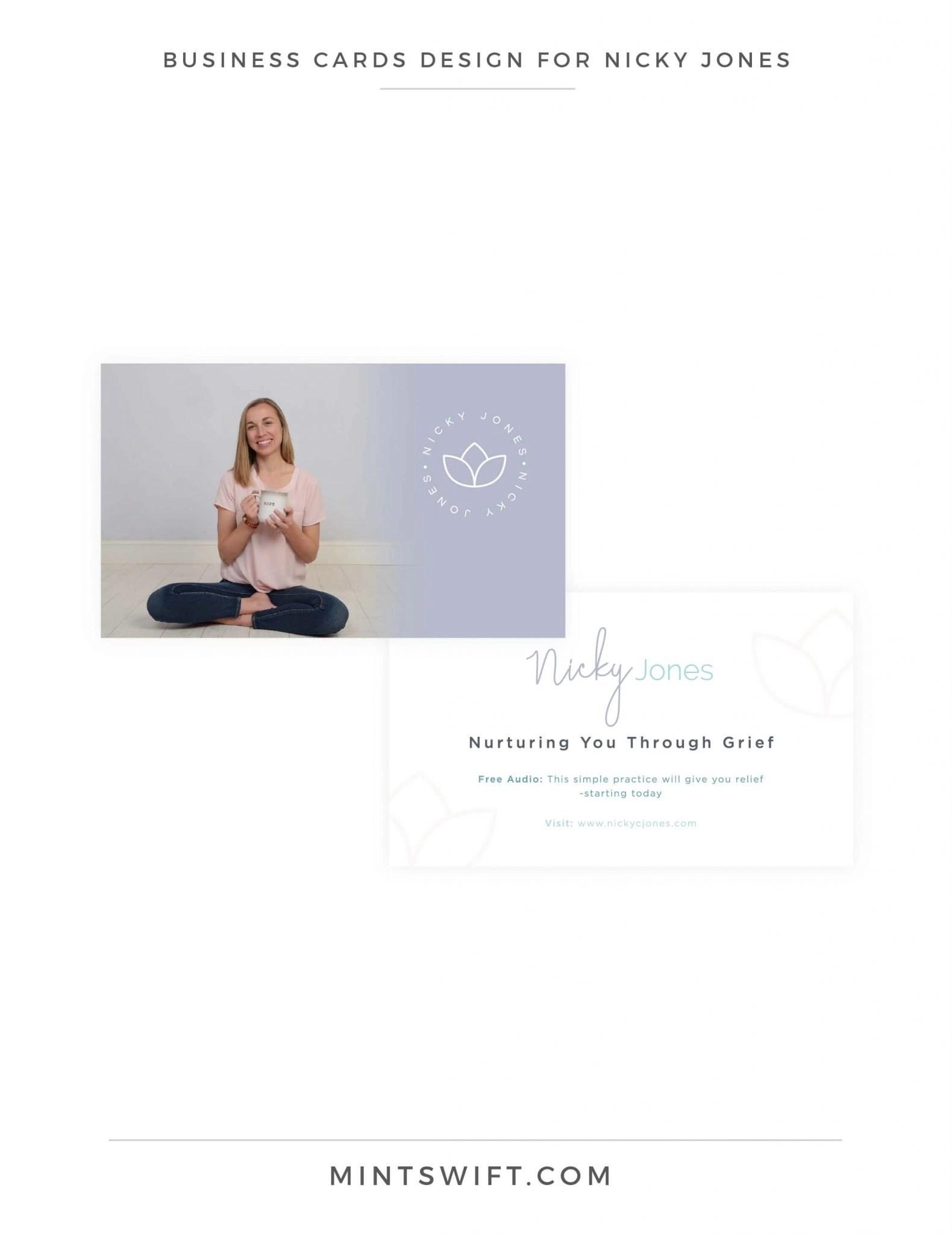 Nicky Jones - Business Cards Design - Brand Design Package - MintSwift