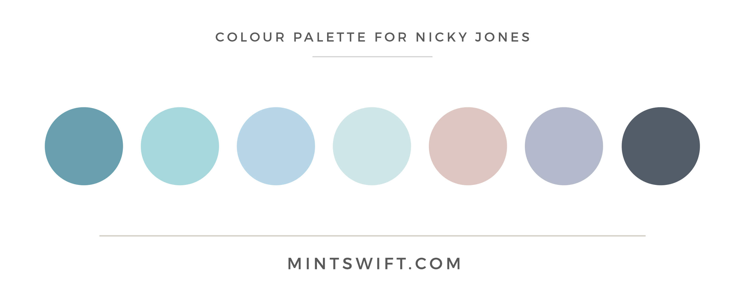 Nicky Jones - Colour Palette - Brand Design Package - MintSwift
