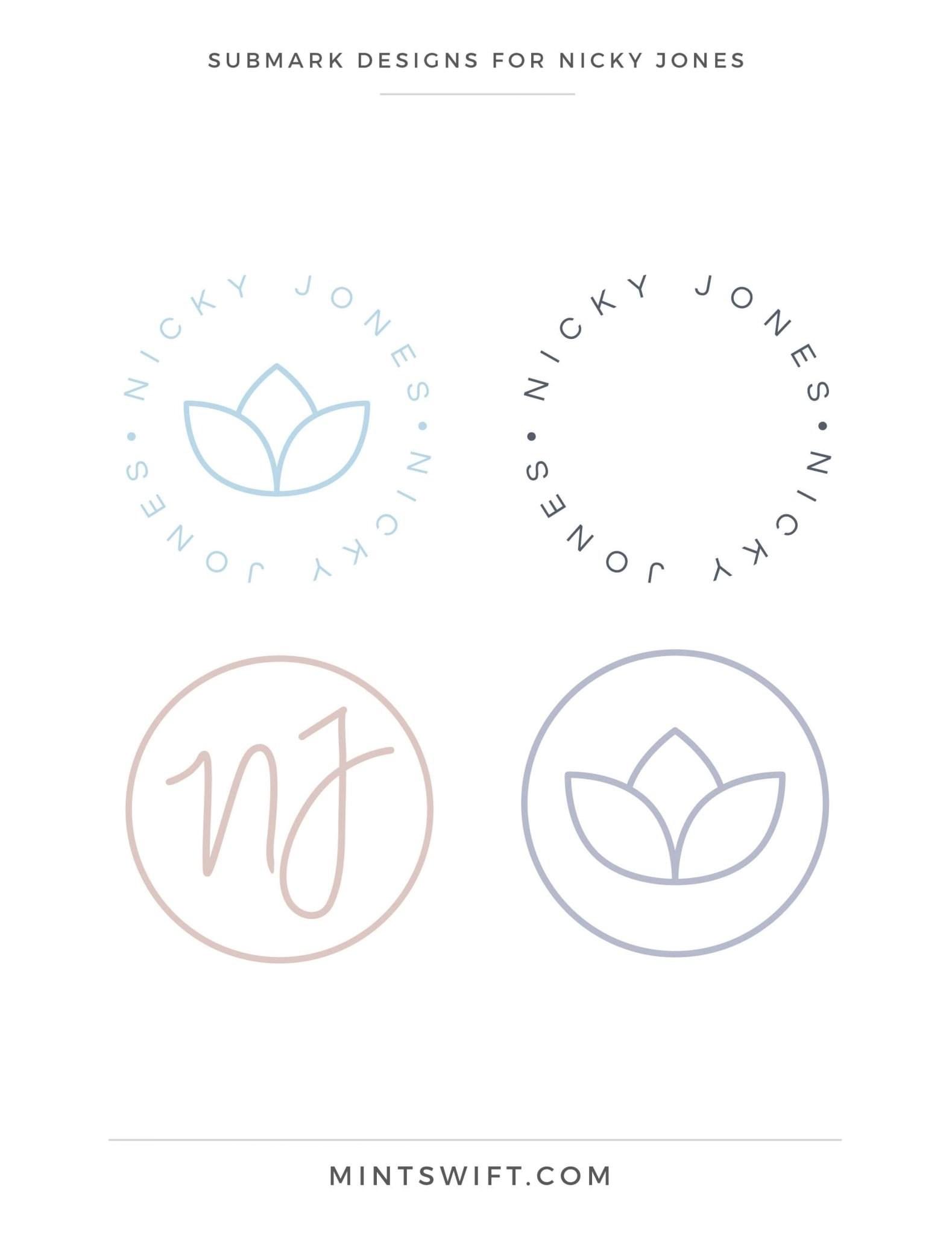 Nicky Jones - Submark Designs - Brand Design Package - MintSwift