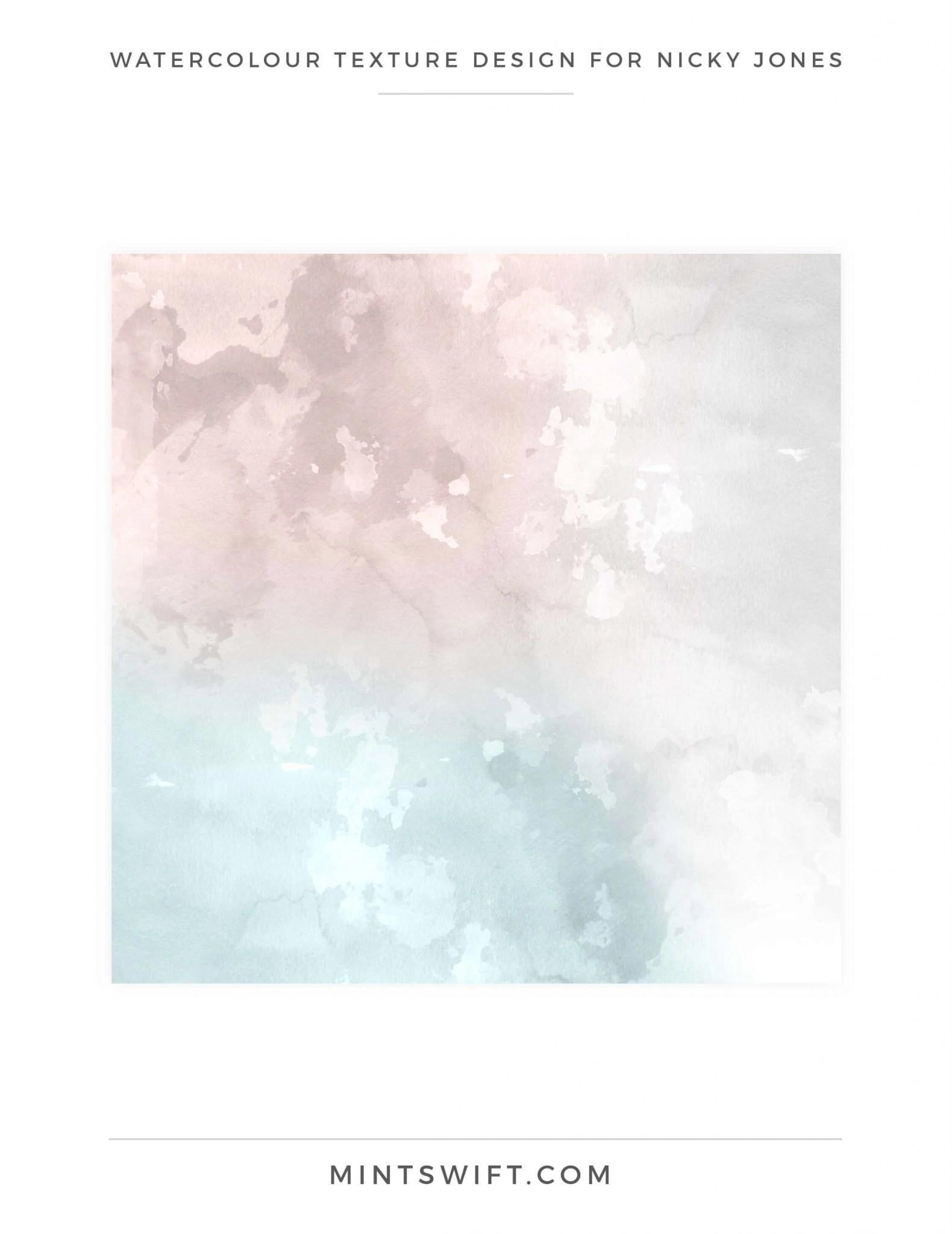 Nicky Jones - Watercolour Texture Design - Brand Design Package - MintSwift