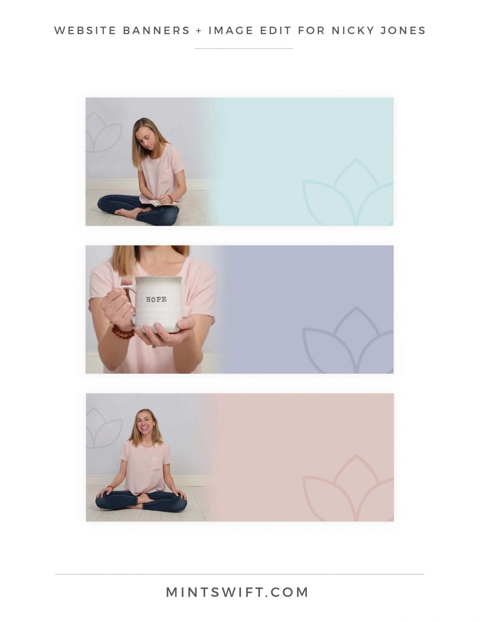 Nicky Jones - Website Banners + Image Edit - Brand Design Package - MintSwift