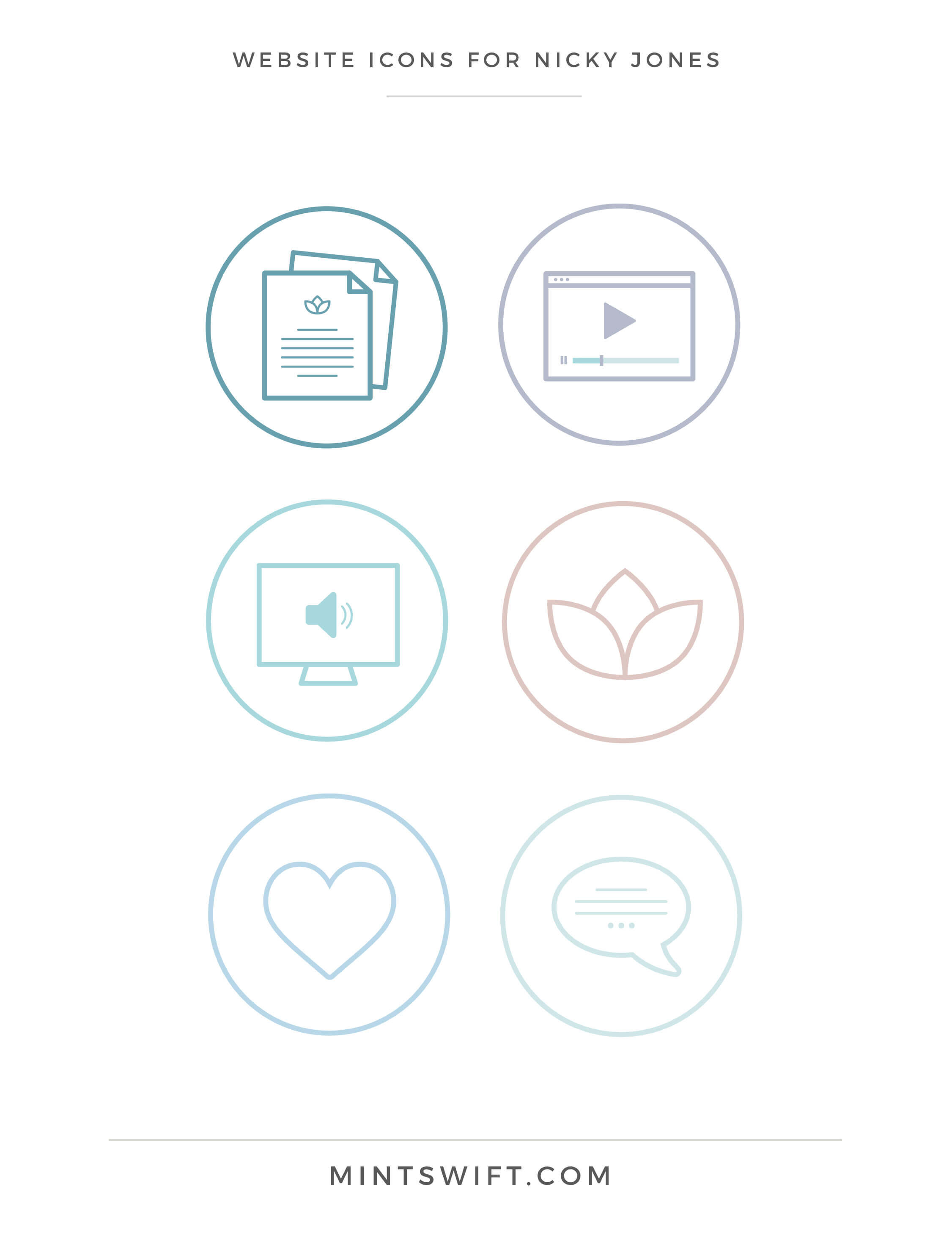 Nicky Jones - Website Icons - Brand Design Package - MintSwift