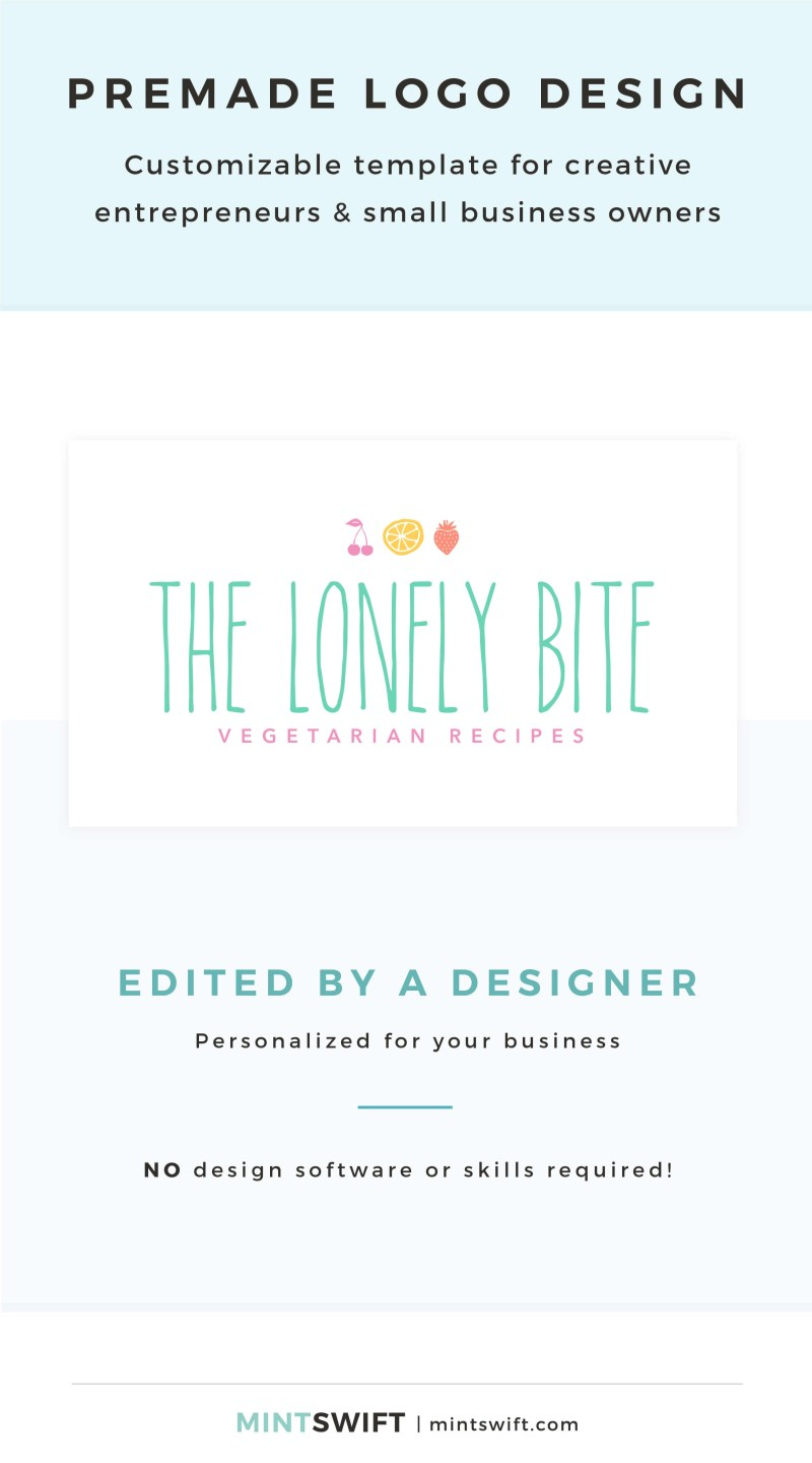 The Lonely Bite Premade Logo