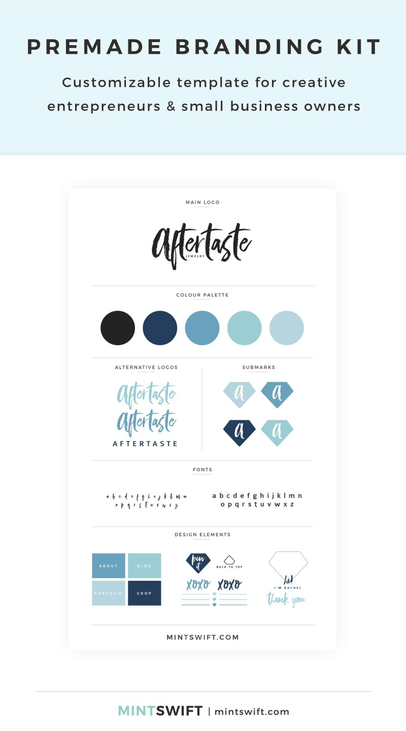 Aftertaste Premade Branding Kit
