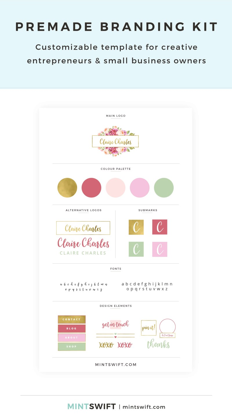 Claire Charles Premade Branding Kit