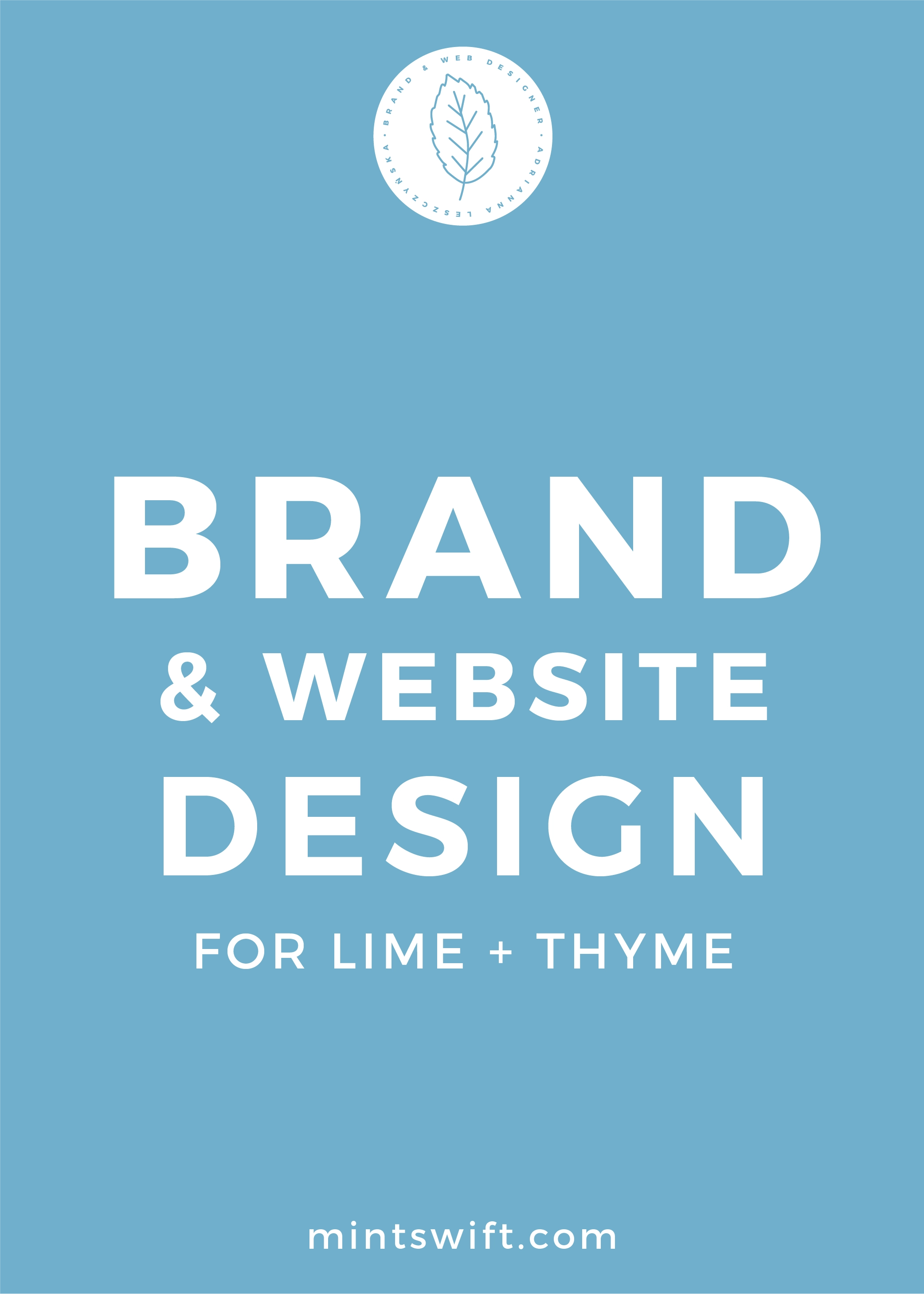 Brand & Website Design for Lime + Thyme - MintSwift