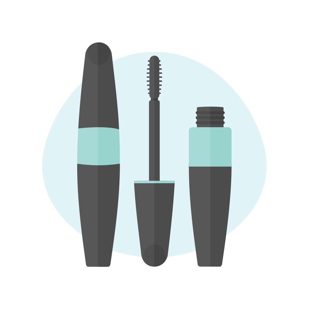 Vector illustration of a Max Factor false lash effect mascara in flat design style