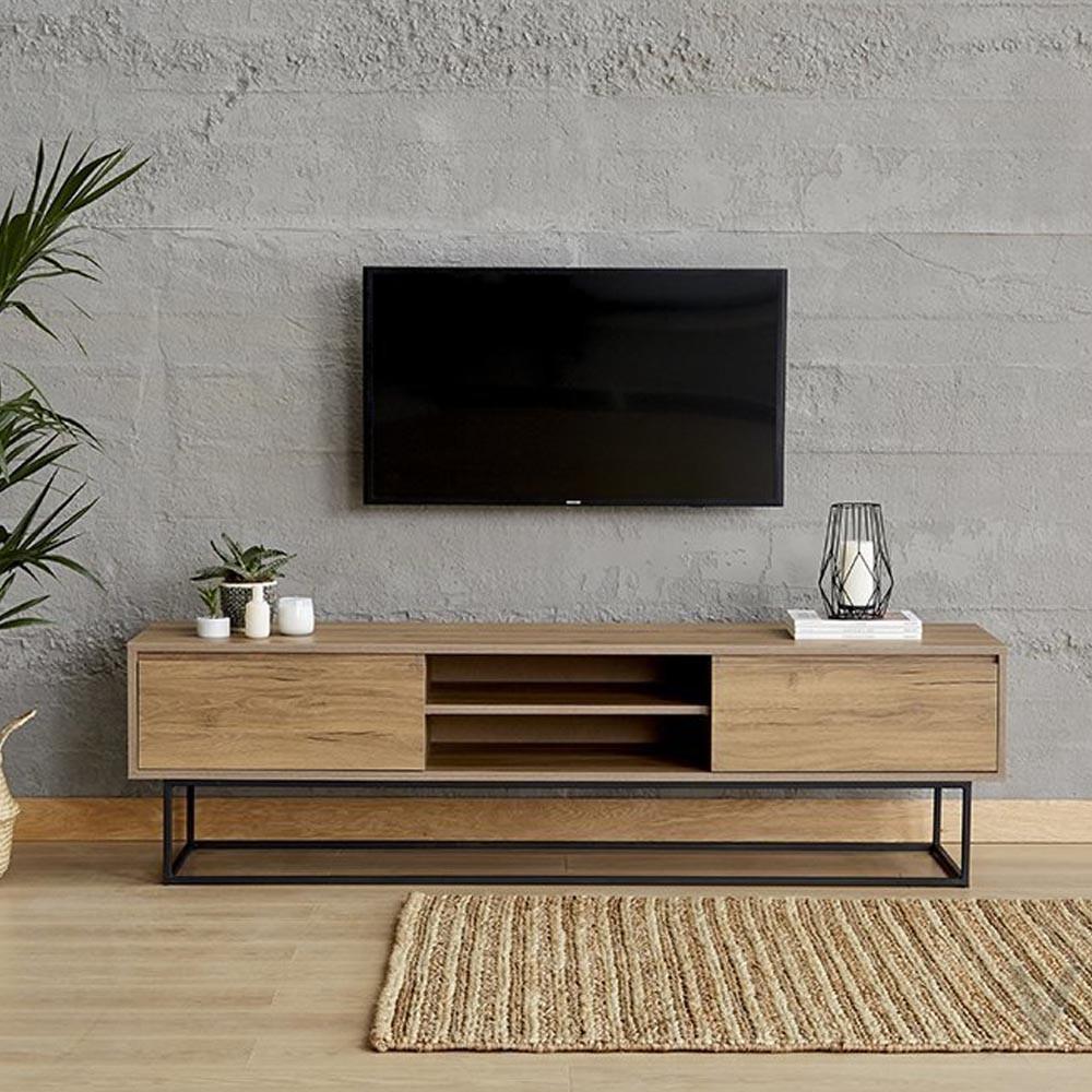 laxus tv table walnut 180 cm lg8 334