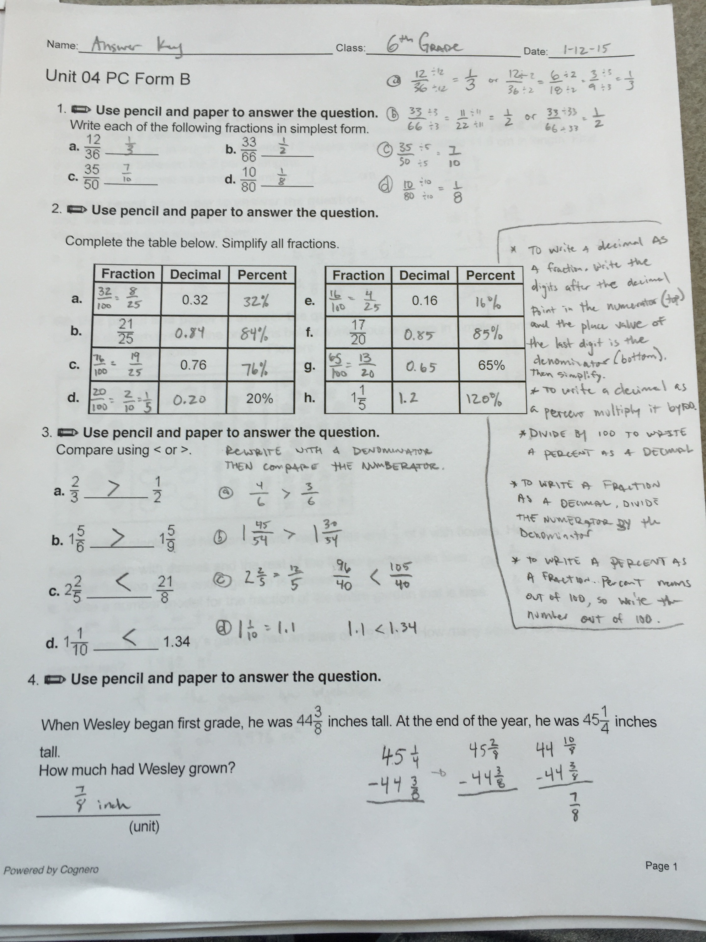 6th Grade Math Trivia Questions And Answers Picture