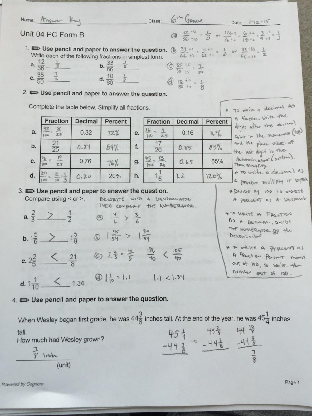 medium resolution of 6th Grade Ch. 4 Review Sheet ANSWERS Mr. Minturns Math Universe