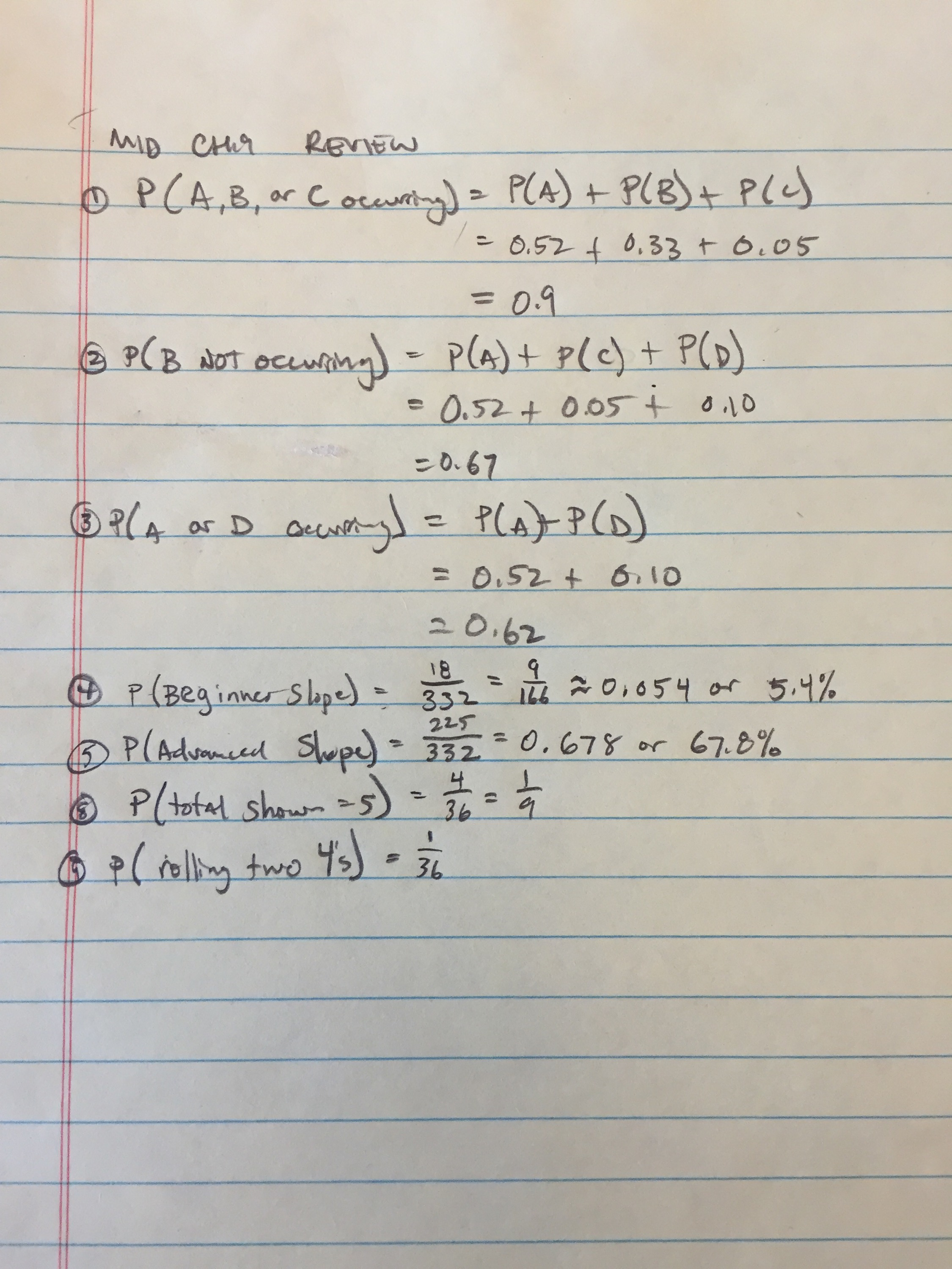 8th Grade Mid Ch 9 Review Sheet Answers