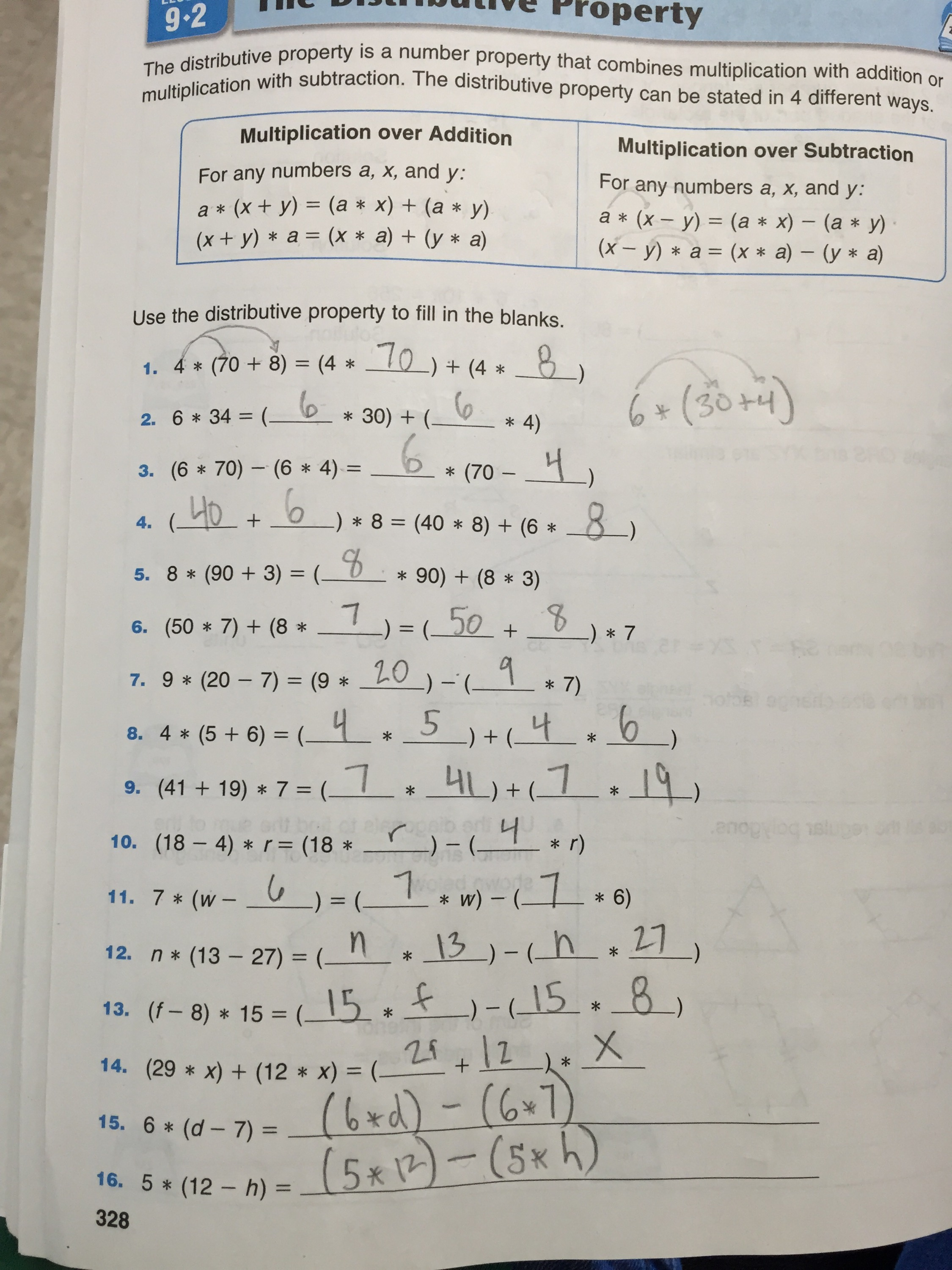 Weekly Math Homework 8th Grade Answers