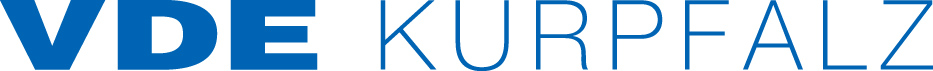 VDE Kurpfalz Logo RGB (JPG)  blau Echtfarbe: HKS 39 CMYK: 100/50/0/0 sRGB: 0/100/180 Hex: #0069b4 Pantone C: 2935 C