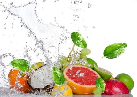 water splash fruit