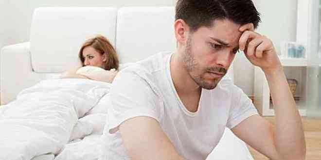 man and women upset in bed
