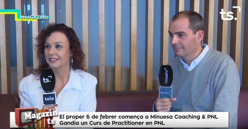 Entrevista Tele Safor explicando Practitioner en PNL