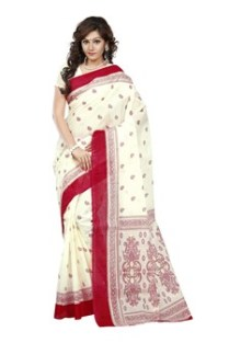 No matter how fashion has evolved, when it comes to festivals people go back to their basics – traditional ethnic wears. Every Bengali woman would own at least one such red and white saree.