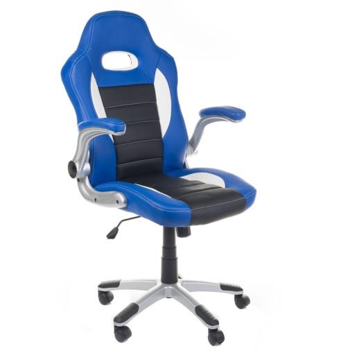 Scaun de gaming ergonomic Racer BX-6923, Albastru selgot