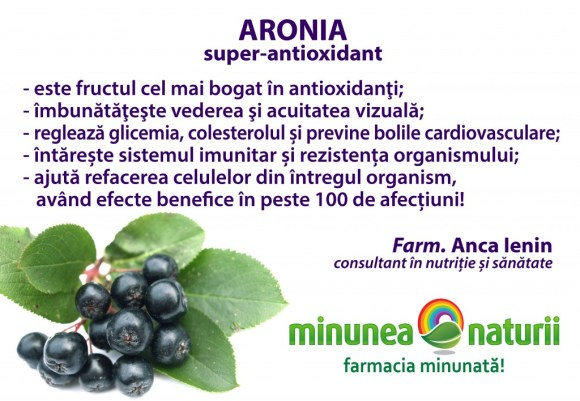 Aronia - Minunea Naturii - Farm. Anca Ienin - consultant in nutritie si sanatate