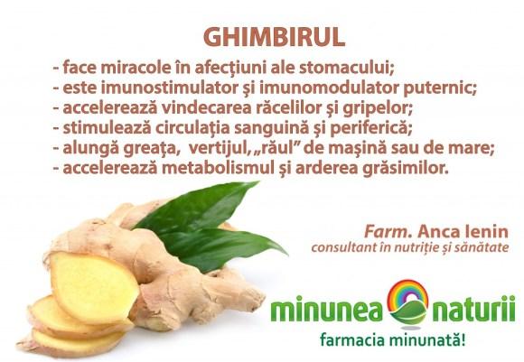 Ghimbirul - Minunea Naturii - Farm. Anca Ienin - consultant in nutritie si sanatate