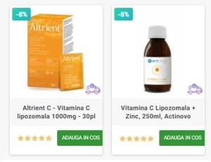 Vitamina C lipozomala Altrient actinovo