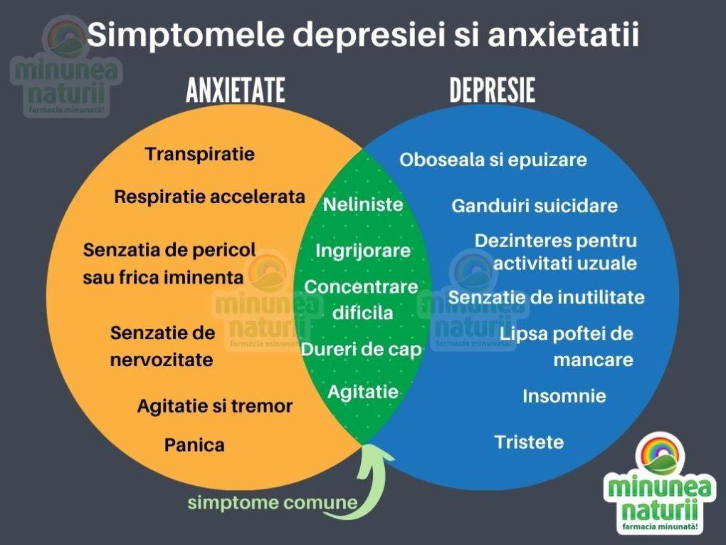 Simptomele depresisei si anxeitatii