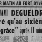 DEGUELDRE : LE 6 JUILLET 1962, ON A FUSILLÉ L'HONNEUR (Éric de Verdelhan)