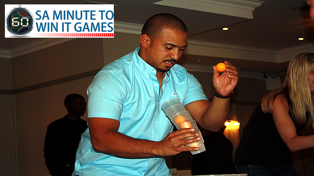 SA Minute To Win It Games - Tilt A Cup