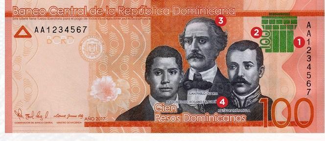Resultado de imagen para El Banco Central emite un billete de RD$100.00