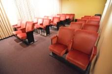Mini cinema onde é apresentado o vídeo do RCMH