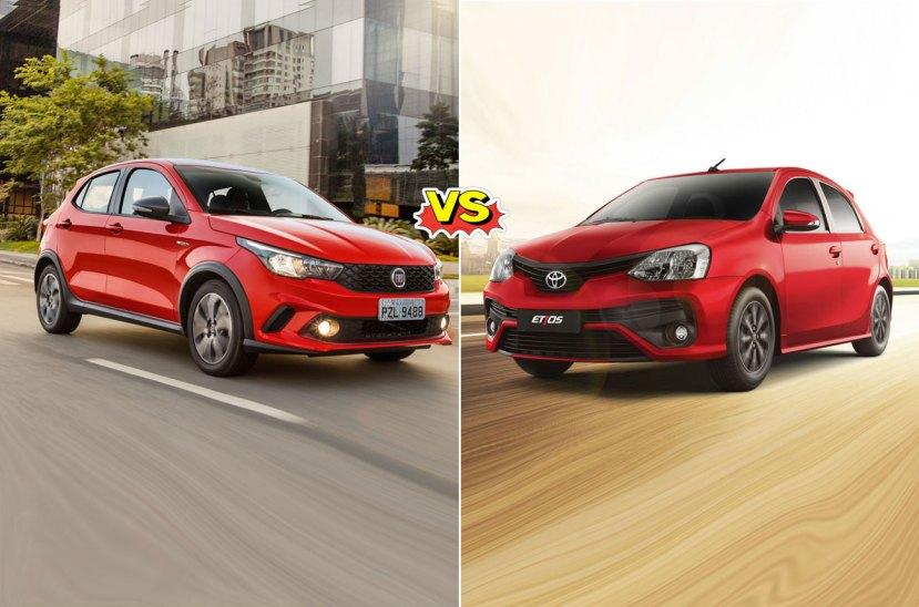 Fiat Argo vs. Toyota Etios
