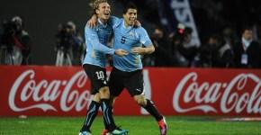 Forlan si Suarez copa america 2011
