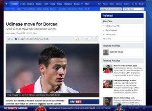 Udinese move for Borcea