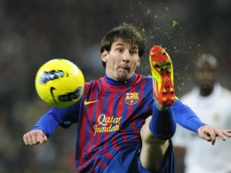 Barcelona's forward Lionel Messi in El Clasico