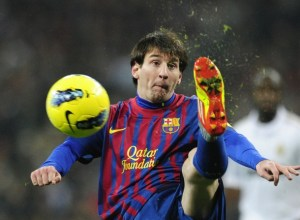 Barcelona's forward Lionel Messi in El Clasico