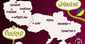 EURO 2012 map poland ukraine