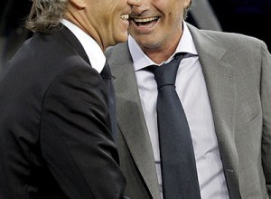 Real Madrid Vs. Manchester City Mancini and Mourinho