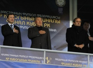 Michel Platin Nursultan Nazarbayev