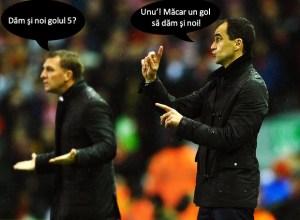Brendan Rodgers Roberto Martinez Liverpool v Everton 28.01.2014