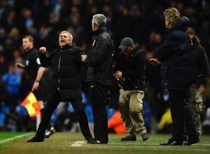 Jose Mourinho in Manchester City v Chelsea 0-1