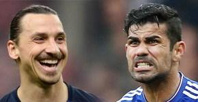 Zlatan Ibrahimovic Diego Costa PSG vChelsea