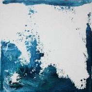Flying Waters III - Öl auf Leinwand - 10 x 10 cm