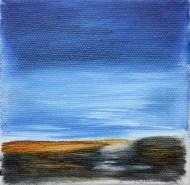 Landschaft - Öl auf Leinwand - 10 x 10 cm Privatbesitz/privately owned