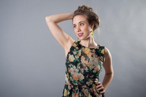 Dolce Vita Sheer Flroal Dress