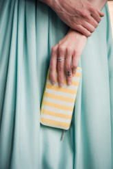 Yellow Striped Clutch/Wallet