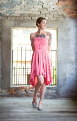 Hi-Low Multiway Dress in Coral